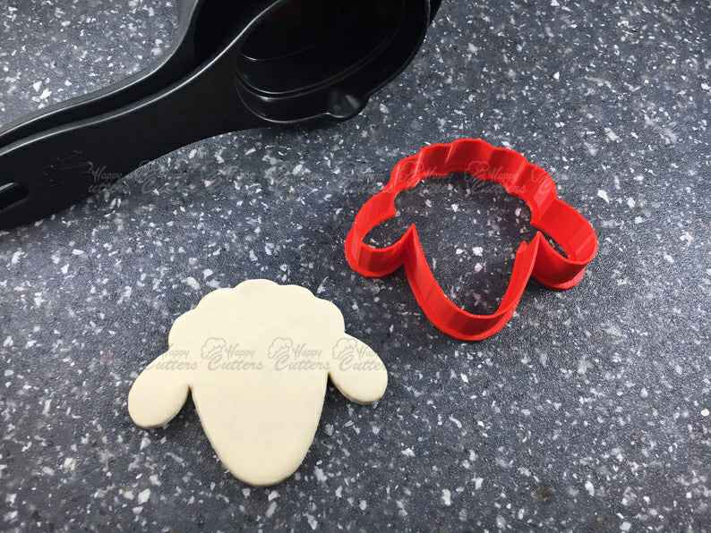 Sheep Face Cookie or Fondant Cutter,                       animal cutters, animal cookie cutters, farm animal cookie cutters, woodland animal cookie cutters, elephant cookie cutter, dinosaur cookie cutters, xo cookie cutters, cowboy boot cookie cutter michaels, ocean cookie cutters, christmas playdough cutters, heart cookie cutters bulk, nutcracker cookie cutter set, baby feet fondant cutter, mickey and minnie cookie cutters,