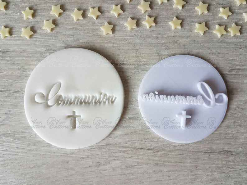 Communion Embosser Stamp | Cupcake Cookie Stamp |Nativity,                       letter cookie cutters, cursive letter cookie stamp, cursive letter fondant cutters, fancy letter cookie cutters, large letter cookie cutters, letter shaped cookie cutters, hello kitty cookie cutter, vintage biscuit cutter, sweet sugarbelle shape shifter cookie cutters, stamp cutters, tennis cookie cutter, handprint cookie cutter, rolling cookie cutter, plaque cookie,
