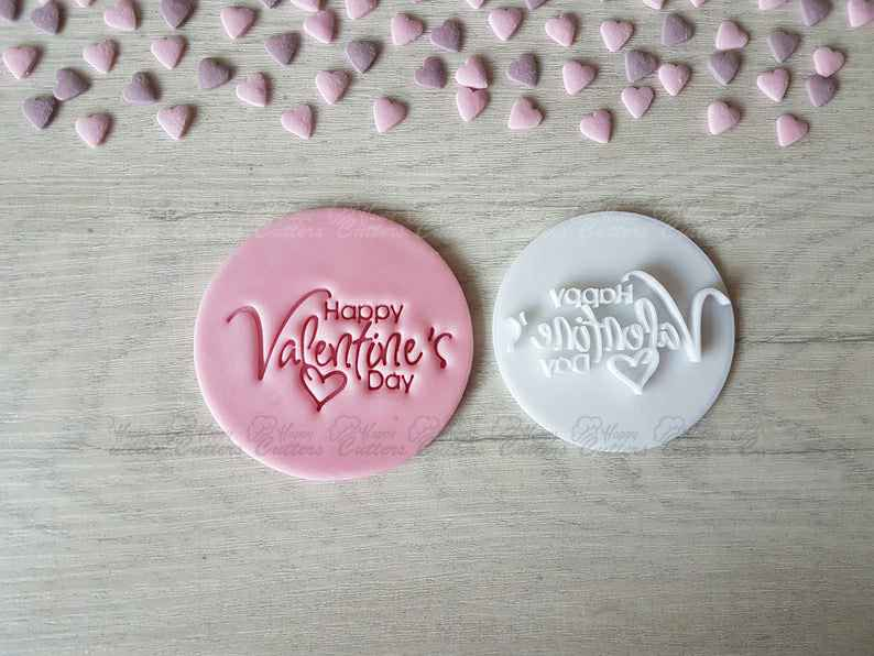 Happy Valentine's Day Embosser Stamp | Cookie Biscuit Pottery Stamp |,                       letter cookie cutters, cursive letter cookie stamp, cursive letter fondant cutters, fancy letter cookie cutters, large letter cookie cutters, letter shaped cookie cutters, harry potter cookie cutters, sitting elephant cookie cutter, princess dress cookie cutter, mexican fiesta cookie cutters, round metal cookie cutters, spoon shaped cookie cutter, floral cookie cutter, unicorn cookie cutter michaels,
