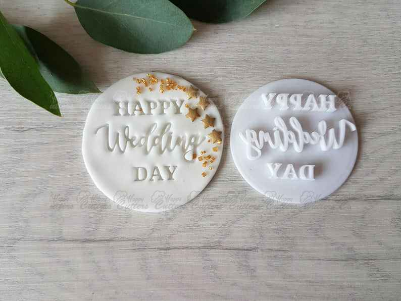 Happy Wedding Day Embosser Stamp| Cookie Soap Pottery Stamp|,                       letter cookie cutters, cursive letter cookie stamp, cursive letter fondant cutters, fancy letter cookie cutters, large letter cookie cutters, letter shaped cookie cutters, cardinal cookie cutter, nerf cookie cutter, disney cars cookie cutters, 80 cookie cutter, cheerleader cookie cutter, the cookie stamp, toy story cutters, baby rattle cookie cutter,