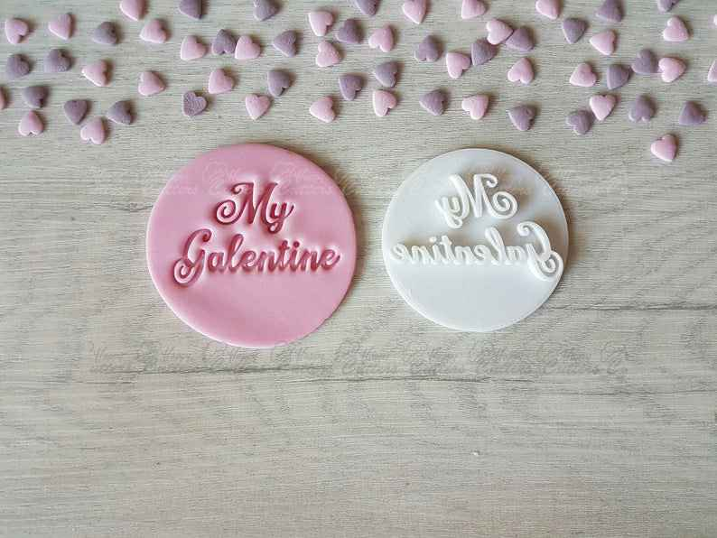 My Galentine Embosser Stamp | Cookie Biscuit Pottery Stamp |,                       letter cookie cutters, cursive letter cookie stamp, cursive letter fondant cutters, fancy letter cookie cutters, large letter cookie cutters, letter shaped cookie cutters, extra large number cookie cutters, mini cookie cutters, state cookie cutters, rolling stones cookie cutter, 4 inch square cookie cutter, totoro cookie cutter, farmers cookie cutters, scottish terrier cookie cutter,