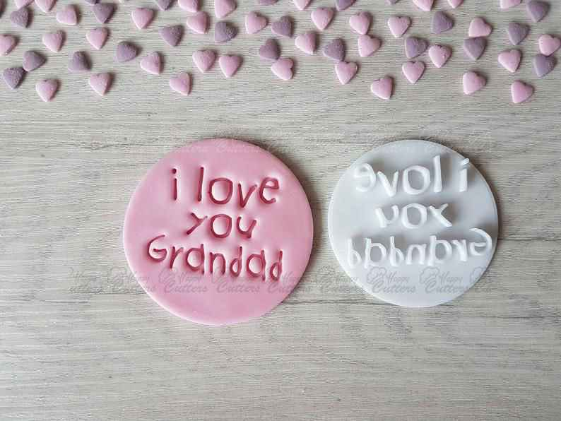 I Love You Grandad Embosser Stamp,                       letter cookie cutters, cursive letter cookie stamp, cursive letter fondant cutters, fancy letter cookie cutters, large letter cookie cutters, letter shaped cookie cutters, mother's day cookie cutters, fluted rectangle cookie cutter, guitar shaped cookie cutter, baby shower cookie cutters michaels, fawn cookie cutter, sailor moon cookie cutter, donut cookie cutter, cheer cookie cutters,