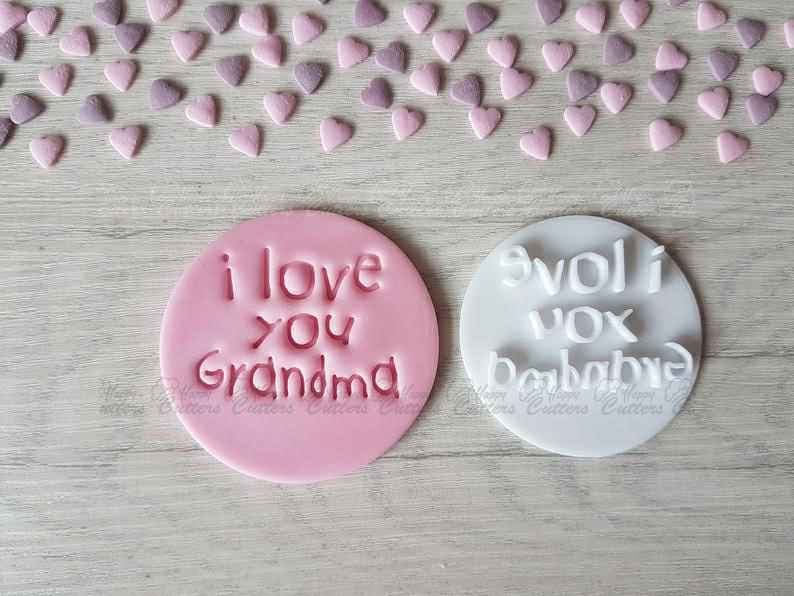 I Love You Grandma Embosser Stamp,                       letter cookie cutters, cursive letter cookie stamp, cursive letter fondant cutters, fancy letter cookie cutters, large letter cookie cutters, letter shaped cookie cutters, husky cookie cutter, sandwich cut outs, cutitoutcutters, half moon cookie cutter, cookie stamps amazon, hockey jersey cookie cutter, small dog bone cookie cutter, fireman cookie cutter,