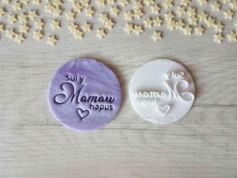 Sul y Mamau hapus Embosser Stamp | Mother's Day Gift,                       letter cookie cutters, cursive letter cookie stamp, cursive letter fondant cutters, fancy letter cookie cutters, large letter cookie cutters, letter shaped cookie cutters, clown cookie cutter, sweet sugarbelle birthday set, teepee cookie cutter, flame fondant cutter, flower shape cutter, gingerbread cookie cutters walmart, diy christmas cookie cutters, paw print cutter,