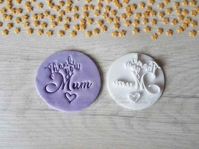 Thank you Mum Embosser Stamp | Mother's Day Gift,                       letter cookie cutters, cursive letter cookie stamp, cursive letter fondant cutters, fancy letter cookie cutters, large letter cookie cutters, letter shaped cookie cutters, sesame street cookie cutters, drum cookie cutter, ballet slipper cookie cutter, giant cookie cutters uk, non cookie cutter, fattigmann cutter, meeple cookie cutter, teddy bear cookie cutter kmart,
