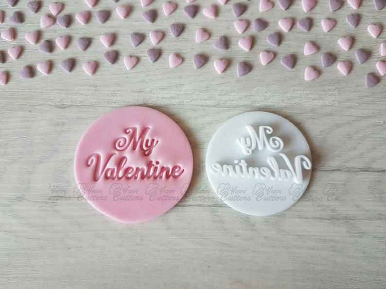 My Valentine Embosser Stamp | Cookie Biscuit Pottery Stamp |,                       letter cookie cutters, cursive letter cookie stamp, cursive letter fondant cutters, fancy letter cookie cutters, large letter cookie cutters, letter shaped cookie cutters, onesie cookie cutter, turkey cutter, fire engine cookie cutter, autumn leaf cookie cutter, fish shape cutter, duck cookie cutter, westie cookie cutter, chihuahua cookie cutter,