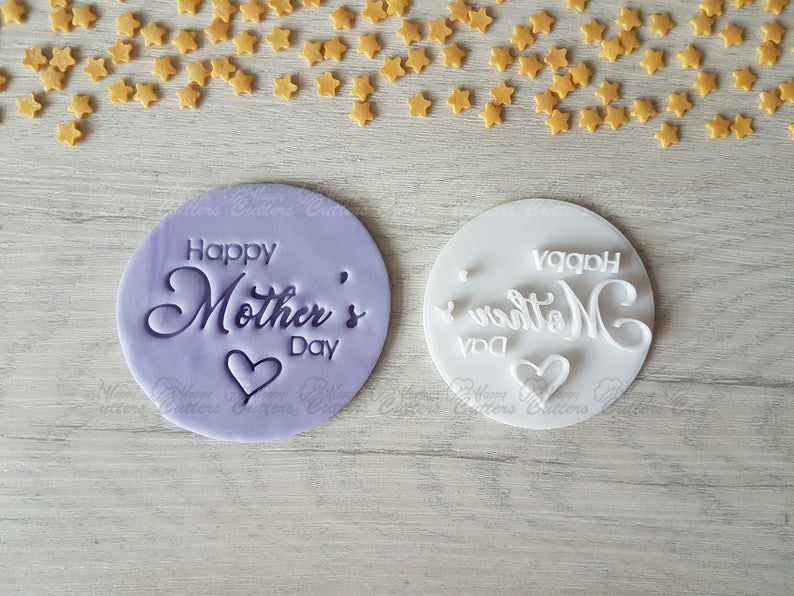 Happy Mother's Day Embosser Stamp (Style 3) | Mother's Day Gift,                       letter cookie cutters, cursive letter cookie stamp, cursive letter fondant cutters, fancy letter cookie cutters, large letter cookie cutters, letter shaped cookie cutters, mickey mouse cookie cutter canada, 4 leaf clover cookie cutter, logo cookie cutter, heart fondant cutter, car cookie cutter, best linzer cookie cutters, sweet sugarbelle bus cutter, donald trump cookie cutter,