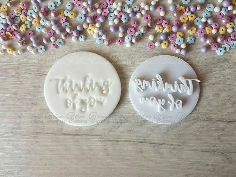 Thinking of you Embosser Stamp,                       letter cookie cutters, cursive letter cookie stamp, cursive letter fondant cutters, fancy letter cookie cutters, large letter cookie cutters, letter shaped cookie cutters, small biscuit cutter, deep scone cutter, baseball cap cookie cutter, pastry cutters asda, sur la table cookie cutters, playing card cutter set, basketball cookie cutter, sweet sugarbelle christmas platter set,