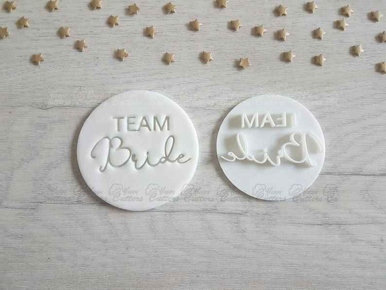 Team Bride Style 2 Embosser Stamp | Hen Party Cakes Cookies Soap Pottery Stamp |,                       letter cookie cutters, cursive letter cookie stamp, cursive letter fondant cutters, fancy letter cookie cutters, large letter cookie cutters, letter shaped cookie cutters, small elephant cookie cutter, wilton cutters, jokumo, animal shape cutters, pumpkin shaped cookie cutter, cookie plaque, geometric shape cookie cutters, vegetable shape cutter,