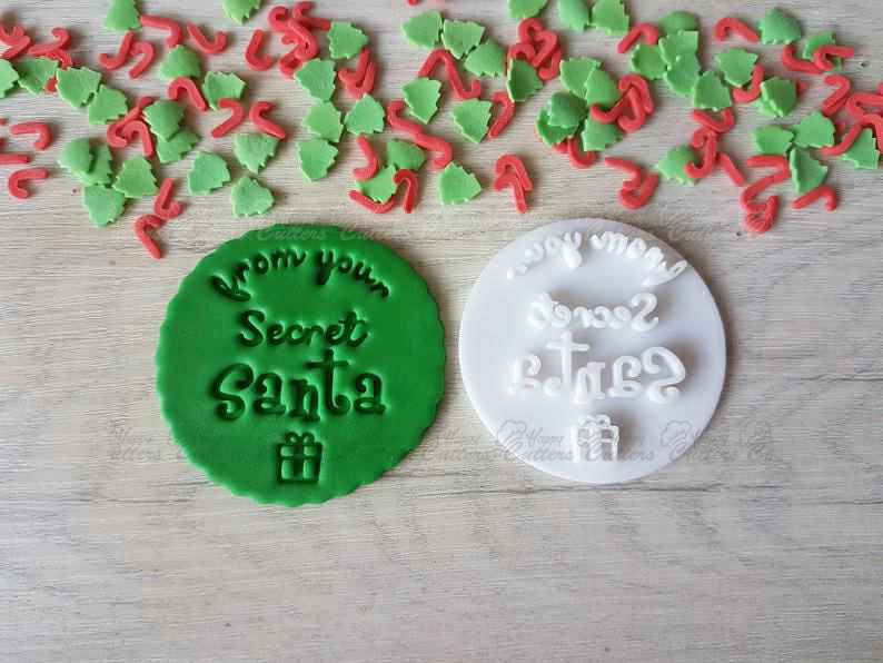 Secret Santa Embosser Stamp|Christmas Cookies Soap Pottery Stamp|,                       letter cookie cutters, cursive letter cookie stamp, cursive letter fondant cutters, fancy letter cookie cutters, large letter cookie cutters, letter shaped cookie cutters, number 7 cookie cutter, cookie stamps canada, aladdin cookie cutters, flower cookie cutters michaels, sugarbelle cookie cutters, reindeer cutter, large gingerbread man cutter, dog treat cookie cutters,
