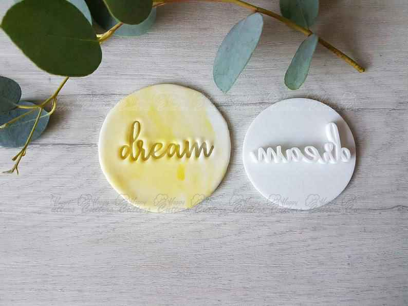 Dream Embosser Stamp | Cake Cookie Biscuit Stamp | Cookie Cutter | Fondant Cutter | Baby Shower | Wedding,                       letter cookie cutters, cursive letter cookie stamp, cursive letter fondant cutters, fancy letter cookie cutters, large letter cookie cutters, letter shaped cookie cutters, alligator cookie cutter, curious george cookie cutter, bulk christmas cookie cutters, football cookie cutter michaels, shortbread cutter, syringe cookie cutter, grinch cookie cutter amazon, large alphabet cutters,