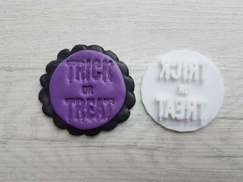 Trick or Treat Embosser Stamp| Cookie Biscuit Pottery Stamp|,                       letter cookie cutters, cursive letter cookie stamp, cursive letter fondant cutters, fancy letter cookie cutters, large letter cookie cutters, letter shaped cookie cutters, plastic christmas cookie cutters, coco cookie cutters, wedding cookie cutters, x and o cookie cutters, small biscuit cutter, gorilla cookie cutter, zombie cookie cutter, gingerbread man cookie cutter,
