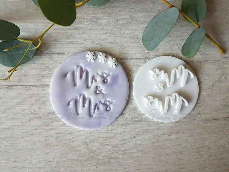 Mrs & Mrs Embosser Stamp | Cookie Soap Pottery Stamp|,                       letter cookie cutters, cursive letter cookie stamp, cursive letter fondant cutters, fancy letter cookie cutters, large letter cookie cutters, letter shaped cookie cutters, large number cookie cutters, dinosaur cookie cutter set, candle cookie cutter, angel cookie cutter, lion king cookie cutters, musical note cutters, large unicorn cookie cutter, football cutter,
