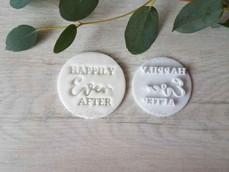 Happily Ever After Wedding Embosser Stamp | Cookie Soap Pottery Stamp |,                       letter cookie cutters, cursive letter cookie stamp, cursive letter fondant cutters, fancy letter cookie cutters, large letter cookie cutters, letter shaped cookie cutters, wilton copper cookie cutters, large heart cutter, astronaut cookie cutter, superhero cookie cutter set, grizzly bear cookie cutter, longhorn cookie cutter, bat cookie cutter, animal cookie cutters,