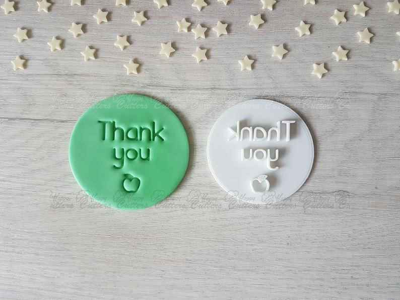 Thank You School Embosser Stamp | Cookie Biscuit Cake Stamp |,                       letter cookie cutters, cursive letter cookie stamp, cursive letter fondant cutters, fancy letter cookie cutters, large letter cookie cutters, letter shaped cookie cutters, farmers cookie cutters, letter e cookie cutter, gingerbread house cookie cutters, lamb cookie cutter, dog bone shaped cookie cutter, bear face cookie cutter, mitten cookie cutter, plastic biscuit cutters,
