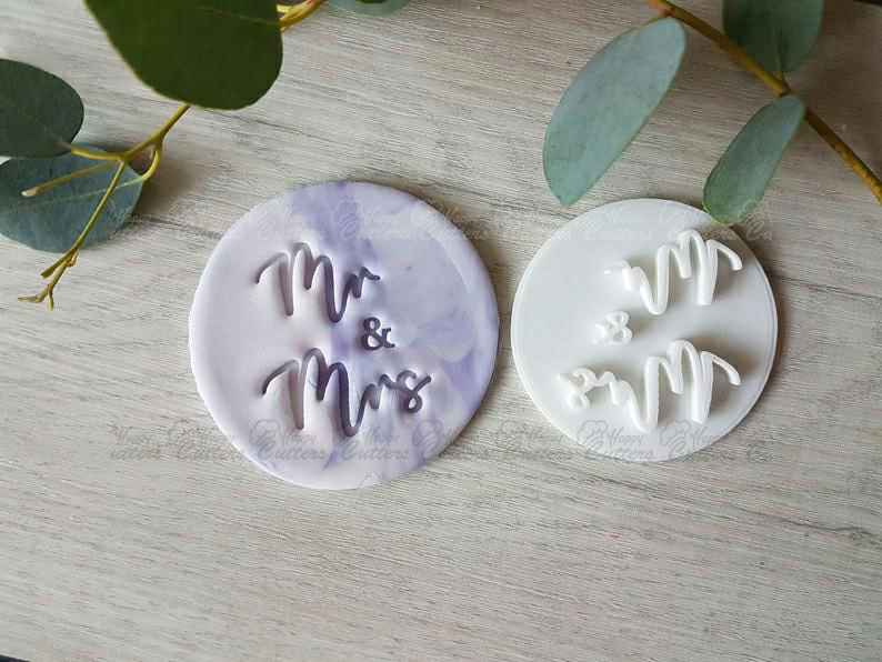 Mr & Mrs Embosser Stamp | Cookie Soap Pottery Stamp,                       letter cookie cutters, cursive letter cookie stamp, cursive letter fondant cutters, fancy letter cookie cutters, large letter cookie cutters, letter shaped cookie cutters, giant cookie cutters, under the sea cookie cutters, dino cookie cutter, stanley cup cookie cutter, tie cookie cutter, gingerbread man cutter, unique christmas cookie cutters, mickey gingerbread cookie cutter,