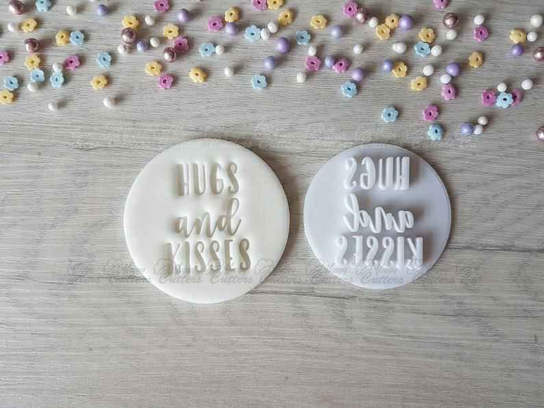 Hugs and Kisses Embosser Stamp Baby Shower Wedding,                       letter cookie cutters, cursive letter cookie stamp, cursive letter fondant cutters, fancy letter cookie cutters, large letter cookie cutters, letter shaped cookie cutters, wilton easter cookie cutters, spartan cookie cutter, simba cookie cutter, fortnite cookie cutter set, disney frozen cookie cutters, seashell cookie cutter, airplane cookie cutter, mini cake cutter,