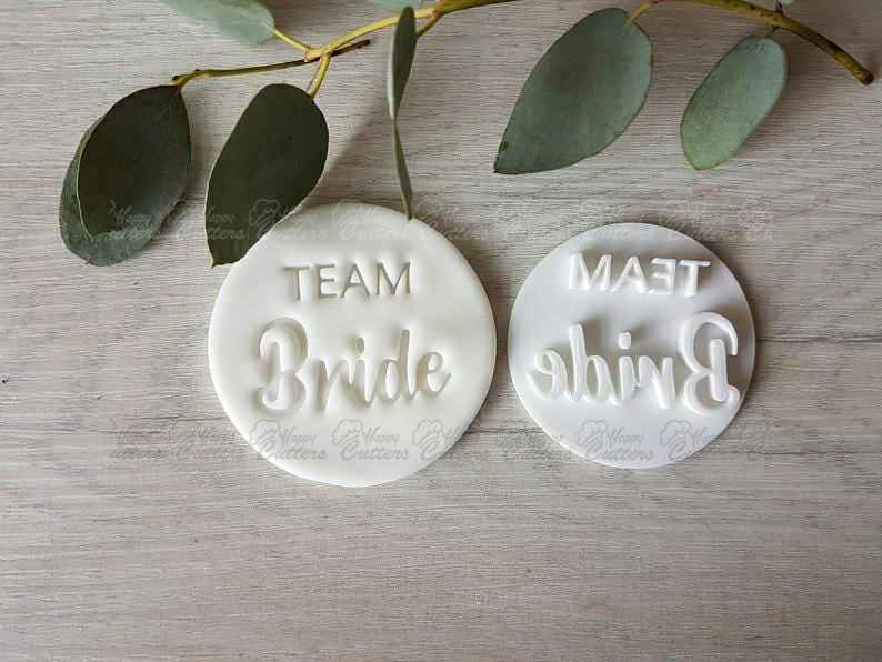 Team Bride Embosser Stamp | Cookie Soap Pottery Stamp |,                       letter cookie cutters, cursive letter cookie stamp, cursive letter fondant cutters, fancy letter cookie cutters, large letter cookie cutters, letter shaped cookie cutters, paisley cookie cutter, old fashioned cookie cutters, spade cookie cutter, sandwich shape cutters, multi cookie cutter sheet, j cookie cutter, star shaped cookie cutter, balloon cookie cutter,