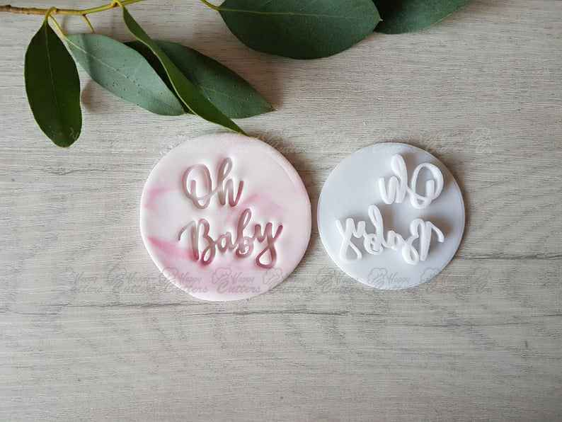 Oh Baby Embosser Stamp | Cake Cookie Soap Pottery Stamp |,                       letter cookie cutters, cursive letter cookie stamp, cursive letter fondant cutters, fancy letter cookie cutters, large letter cookie cutters, letter shaped cookie cutters, wilton gingerbread man cookie cutter, cookie letter stamp, rubber duck cookie cutter, children's cookie cutters, ugly christmas sweater cookie cutter, bicycle fondant cutter, splatoon cookie cutter, tulip cookie cutter,