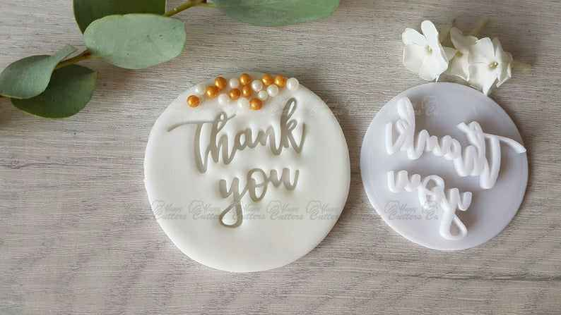Thank You Embosser Stamp | Cookie Biscuit Stamp | Wedding Thank yous | Gratitudes,                       letter cookie cutters, cursive letter cookie stamp, cursive letter fondant cutters, fancy letter cookie cutters, large letter cookie cutters, letter shaped cookie cutters, cowboy boot cookie cutter, 7 cookie cutter, raven cookie cutter, continent cookie cutters, abc cookie cutters, bunny face cookie cutter, skull cookie cutter michaels, bone cookie cutter,