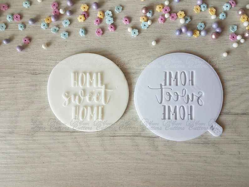 Home Sweet Home Raised Embosser Stamp,                       letter cookie cutters, cursive letter cookie stamp, cursive letter fondant cutters, fancy letter cookie cutters, large letter cookie cutters, letter shaped cookie cutters, halloween pastry cutters, irish cookie cutters, beagle cookie cutter, sugar belle cookie cutters, french fry cookie cutter, large sunflower cookie cutter, real estate cookie cutters, making cookie cutters,