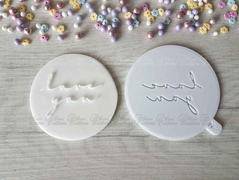 Love you Raised Embosser Stamp,                       letter cookie cutters, cursive letter cookie stamp, cursive letter fondant cutters, fancy letter cookie cutters, large letter cookie cutters, letter shaped cookie cutters, pampered chef christmas cookie cutters, target halloween cookie cutters, latte cookie cutter, lego man cookie cutter, bow tie cookie cutter, pastry cutter nz, woodland cookie cutter set, batman fondant cutter,