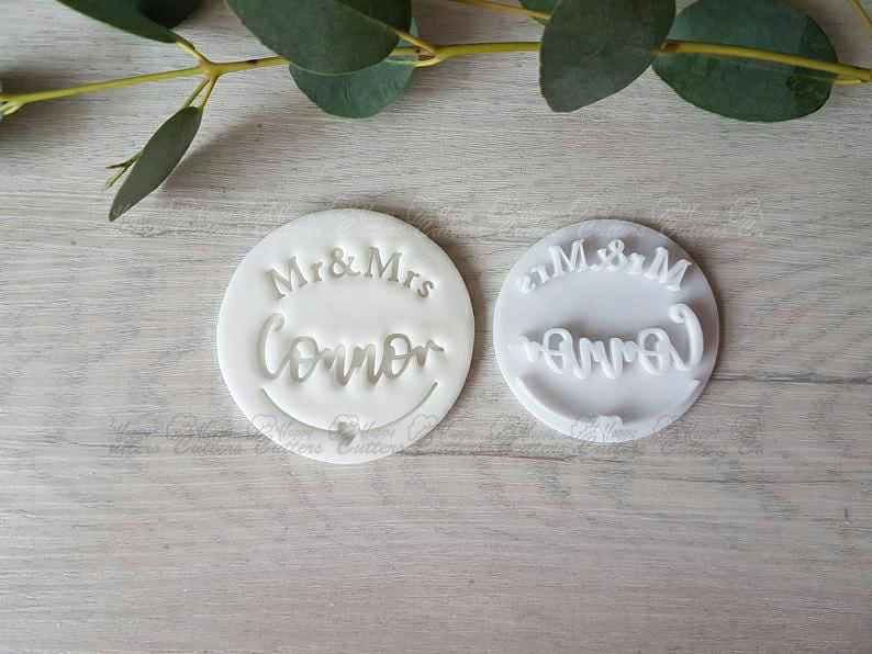 Personalised Mr & Mrs Wedding Embosser Stamp | Cookie Soap Pottery Stamp |,                       letter cookie cutters, cursive letter cookie stamp, cursive letter fondant cutters, fancy letter cookie cutters, large letter cookie cutters, letter shaped cookie cutters, oval cookie cutter, animal cookie cutters, moon cookie cutter, ninja turtle cookie cutter, train cookie cutter, xmas tree cookie cutter, spider cutter, poundland cookie cutters,